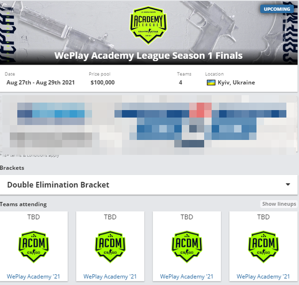 WePlay Academy League Season 1 Finals