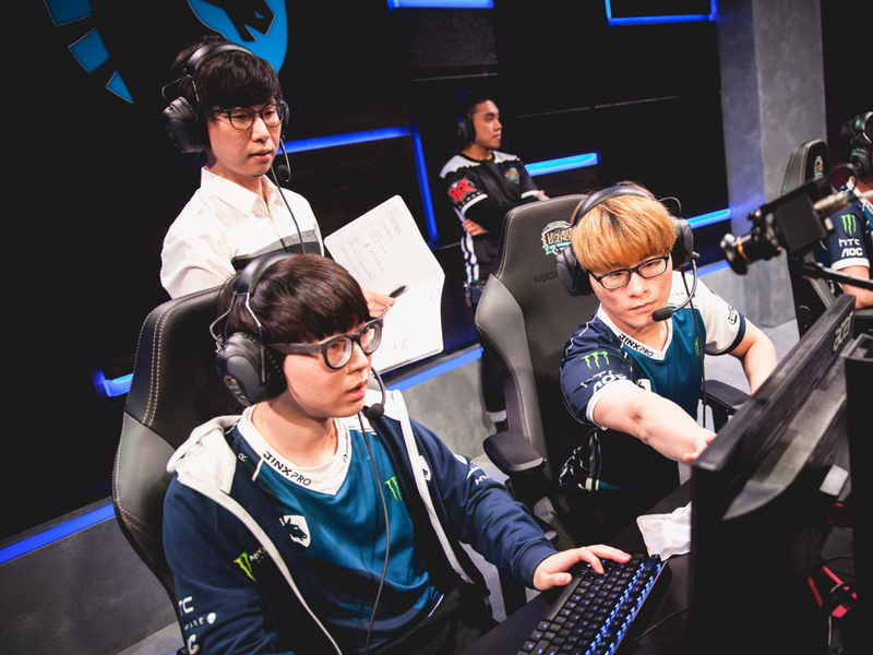 "Kim ""Reignover"" Yeu-jin and Chae ""Piglet"" Gwang-jin carried Team Liquid back to the NA LCS. They have a mission to carry the team back to prominence. / Riot Games"
