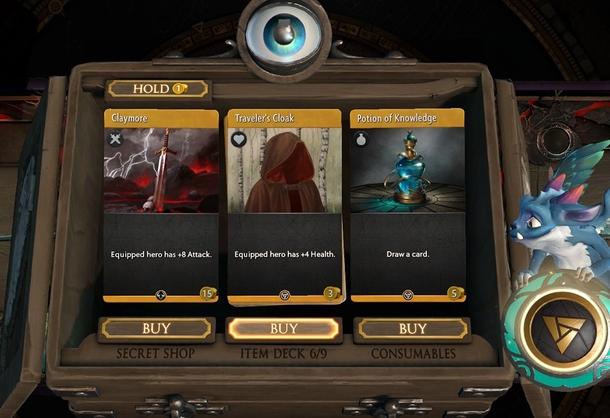 После каждого раунда в Artifact игроки могут потратить накопленное золото на предметы для героев