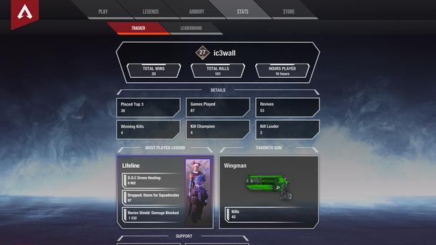 Пользователи Apex Legends с самого релиза просят разработчиков добавить раздел статистики игрока и даже сами предлагают концепты