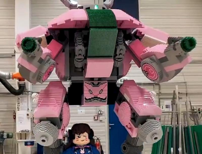 Overwatch D.Va из LEGO