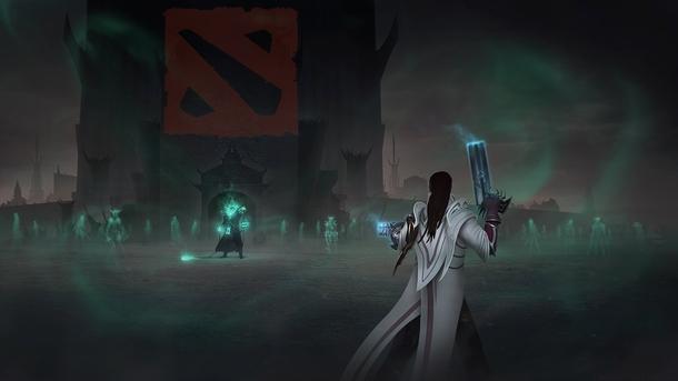Арт Lucian из League of Legends. На входе его злейший враг — Thresh. И некие вольности в Photoshop...