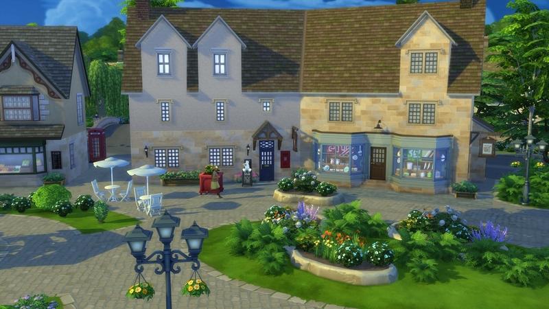 Центральная часть Хэнфорд-он-Бэгли   The Sims 4, «Загородная жизнь»