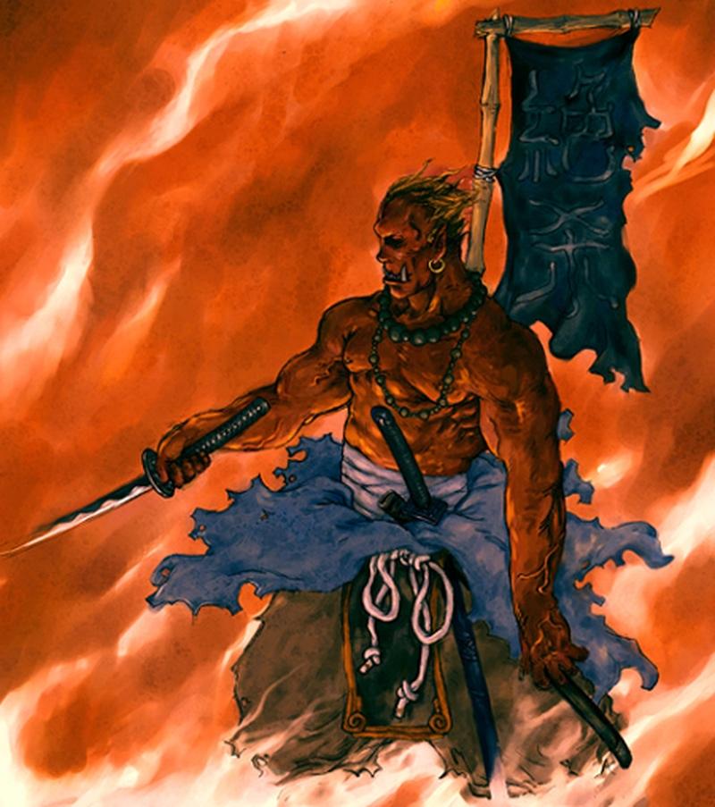 Ранний арт Kunkka: Blademaster из Warcraft 3 (2003)