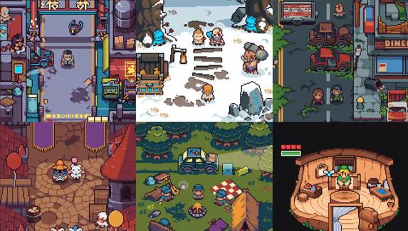 Пиксельные Cyberpunk 2077, TheWitcher и Half-Life — художник создаёт уютные сценки по мотивам игр