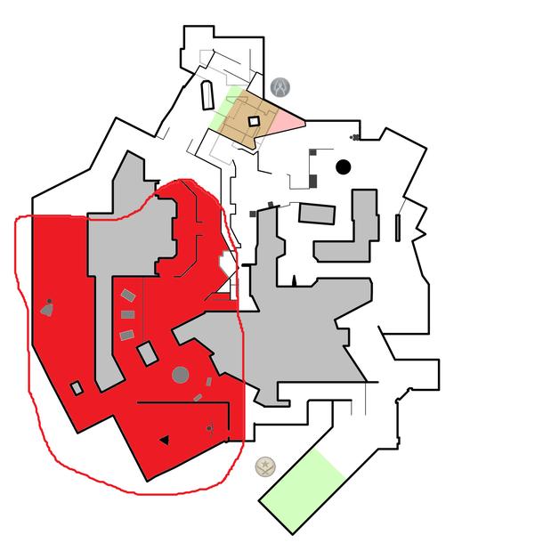 Огромная непроверяемая зона для fnatic на левой половине карты