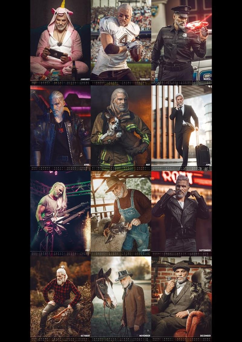 Календарь с Геральтом. Источник: maul-cosplay.com