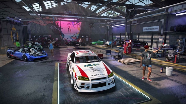 В этом гараже игрок будет оказываться едва ли не чаще, чем на гоночных трассах Источник: EA Games