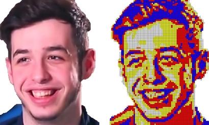 Блогер сделал портрет kennyS из кубиков Рубика