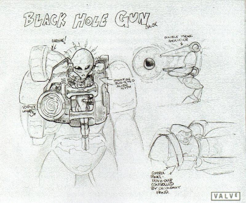 Генератор черной дыры на раннем концепт-арте