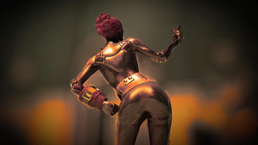 Китайская стелс броня из Fallout 76 - вид сзади