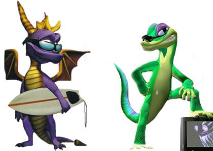 Короли платформеров эпохи PS1 — Spyro и Gex. Автор: BlueRiver2991 / reddit