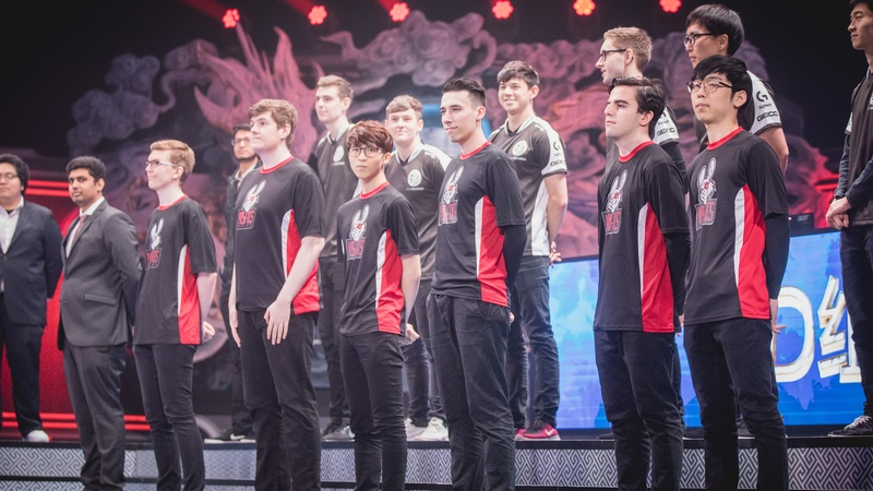 Moosvi, far left, with Misfits at Worlds 2017. Photo by: Riot Games