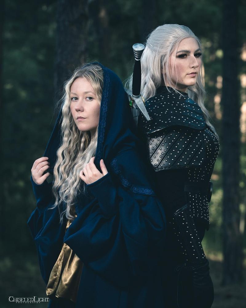 Косплей на Геральта и Цири из сериала The Witcher от Netflix. Источник: instagram.com/laurendoescosplay. Авторы: Loren и Shersten.