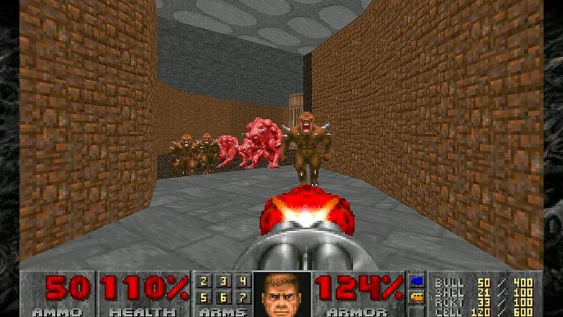 Скриншоты оригинальной игры Doom