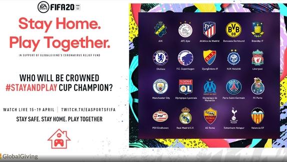 Игроки «Реал Мадрид», «Челси» и «Ливерпуля» встретятся на турнире Stay and Play по FIFA 20