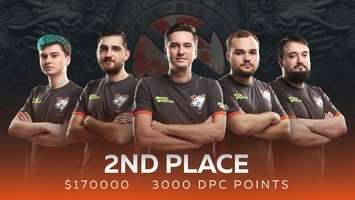 Virtus.pro finishes second in The Chongqing Major
