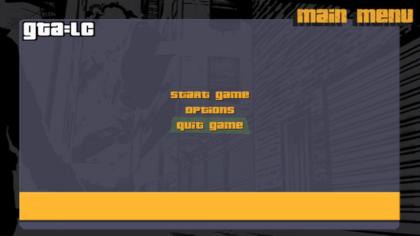 Grand Theft Auto: Liberty City Stories (Main menu)