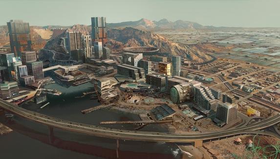 Потерянный рай — авторы Cyberpunk 2077 показали концепт‑арты района Пацифика