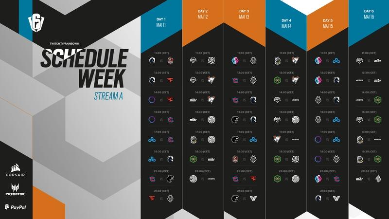 Расписание матчей группового этапа Six Invitational 2021 на стриме A