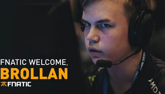 Fnatic finalise roster with addition of Brollan