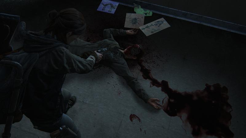 Боевая сцена в The Last of Us Part II