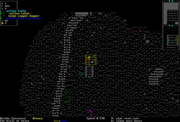 Dwarf Fortress без графической оболочки