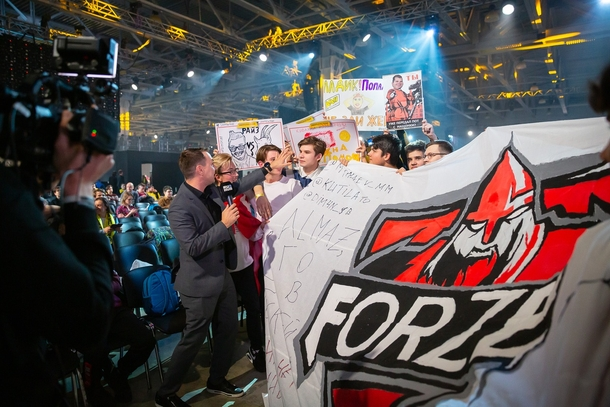 Фанаты forZe на EPICENTER; фото: Epic Esports Events