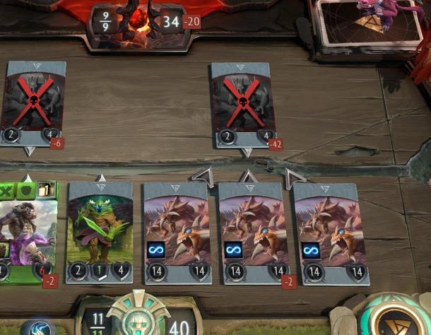 Один крип уменьшил урон по трону противника на 24 единицы