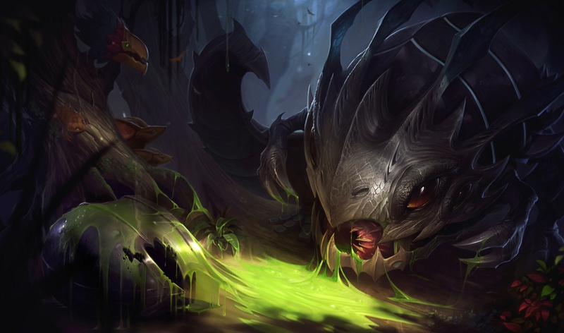 Kog'Maw has been suffering of late   Art by Riot Games