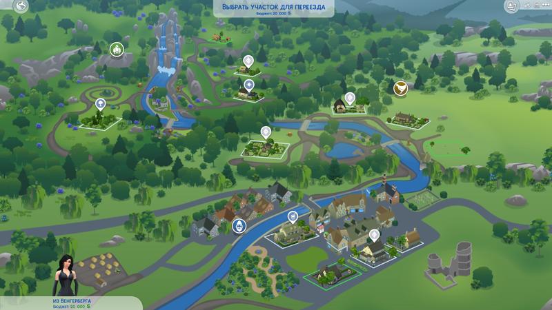Карта Хэнфорд-он-Бэгли   The Sims 4, «Загородная жизнь»