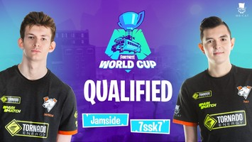 Jamside and 7ssk7 have advanced to Fortnite World Cup