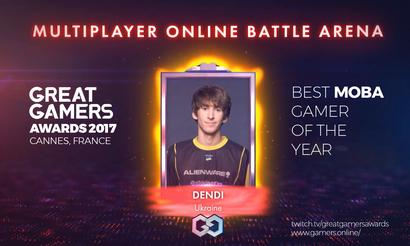 Dendi признали лучшим игроком в MOBA на GreatGamers Awards