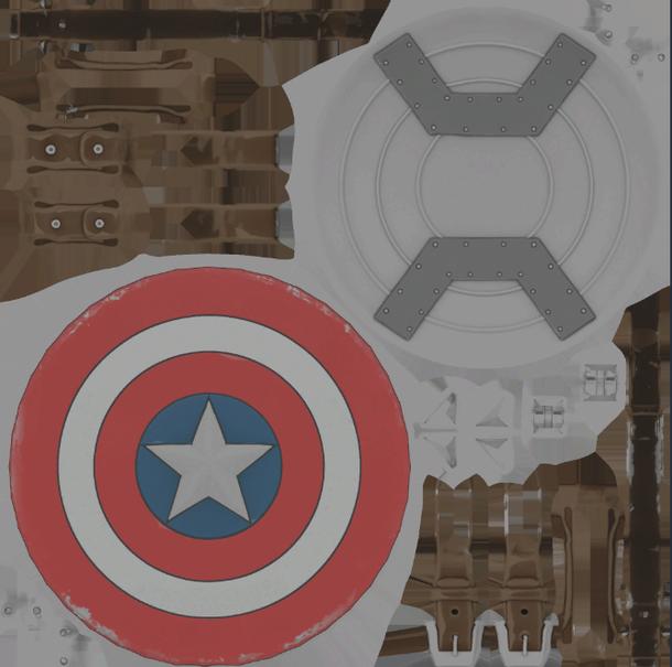 Ассеты для щита Капитана Америки | Фото: twitter.com/FortTory/