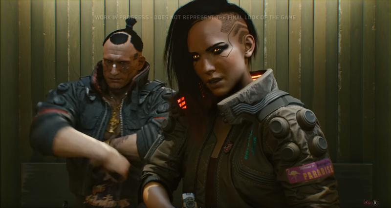 Изображение женской версии Ви из трейлера 28 августа 2018 | Источник: Cyberpunk 2077 / youtube.com