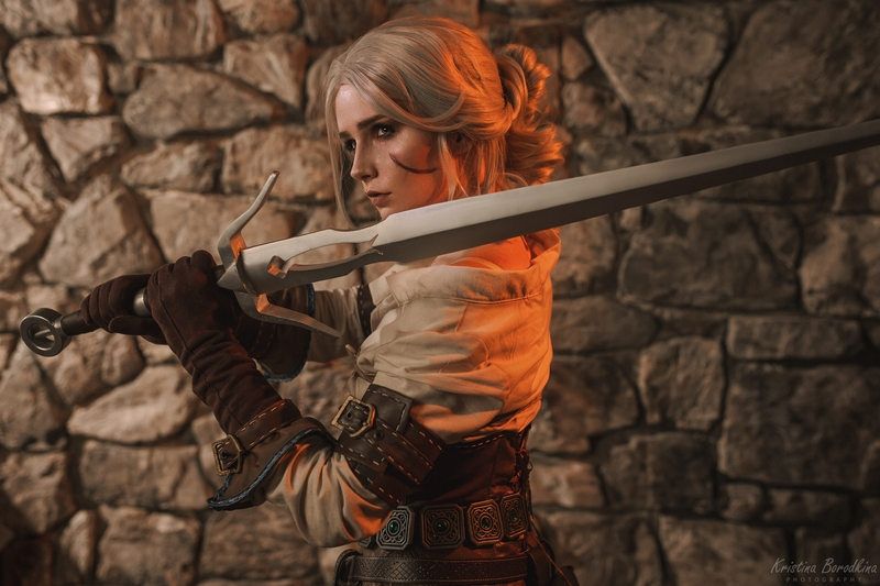 Косплей на Цири из The Witcher 3: Wild Hunt. Косплеер: Кристина Волкова. Фотограф: Кристина Бородкина. Источник: vk.com/kristina_borodkina_photo