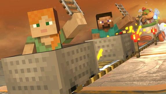 Nintendo рассказала об умениях героев Minecraft в Super Smash Bros. Ultimate