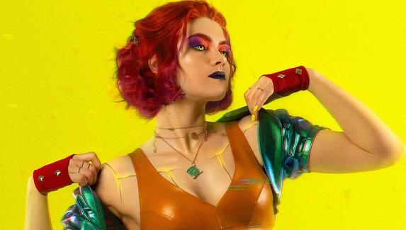Яркий косплей на Трисс Меригольд из вселенной Cyberpunk 2077