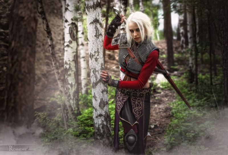 Косплей на Цири из The Witcher 3: Wild Hunt. Косплеер: Екатерина Тимонова. Фотограф: Роберт Зазин. Источник: https://vk.com/id66919303