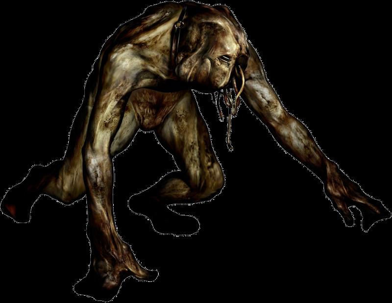 Шумный, обезьяноподобный монстр из Silent Hill
