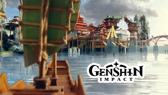 Фанаты Genshin Impact тысячу часов создавали миниатюру локации из игры