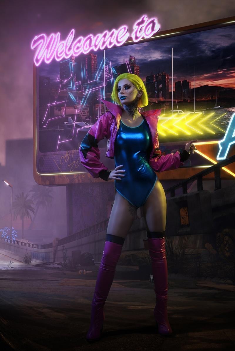 Косплей на персонажа из Cyberpunk 2077. Косплеер: Дарья Кравец. Фотограф: Алена Филиппова. Источник: vk.com/alensphoto.