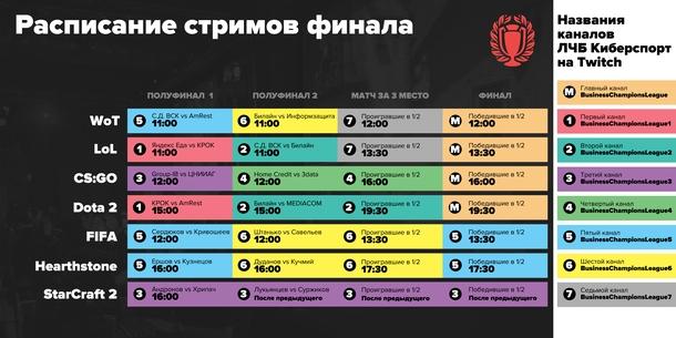 Расписание стримов