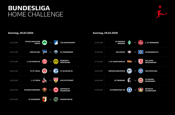 Участники Bundesliga Home Challenge. Источник: virtual.bundesliga.com
