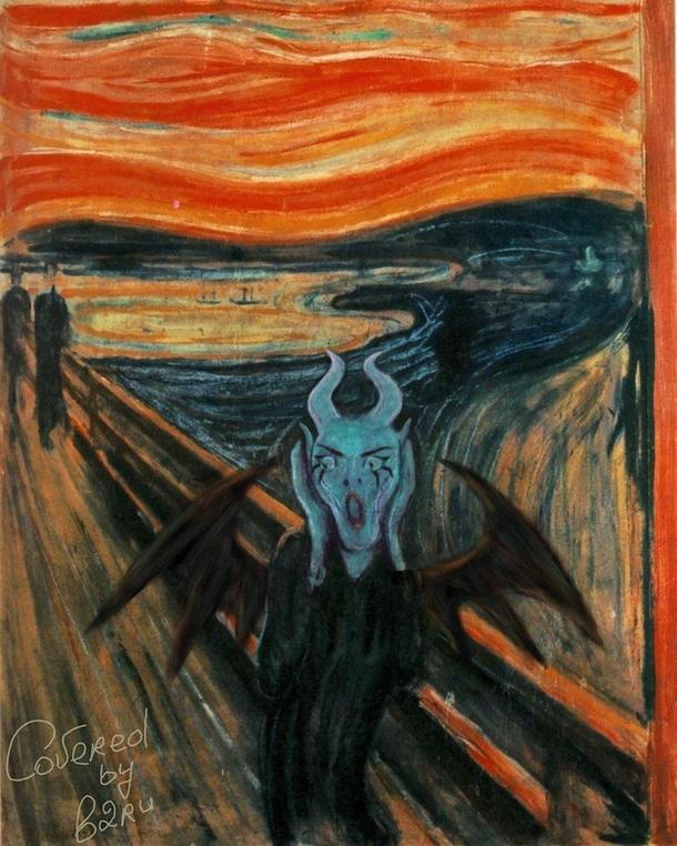 Адаптация картины «Крик»