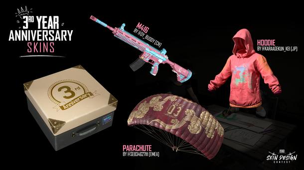 Игрокам в PUBG подарят набор скинов в честь дня рождения «королевской битвы»
