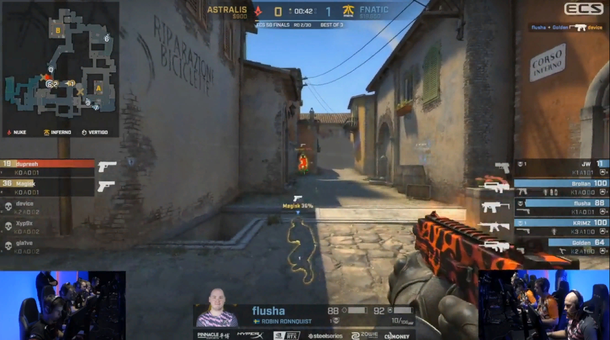 Two seconds to complete triplekilla | FACEIT TV Twitch Channel.
