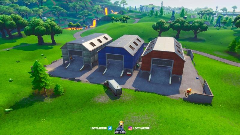 Dusty Depot. Источник: Fortnite
