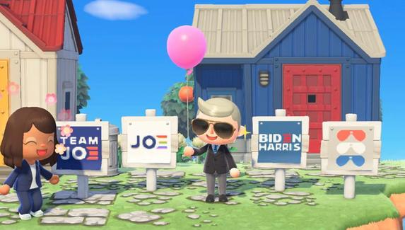 Кандидат в президенты США Джо Байден начал предвыборную кампанию в Animal Crossing