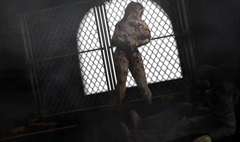 Первая встреча с Лежащей фигурой в Silent Hill 2